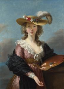 Elisabeth Vigée Lebrun, Autoportrait au chapeau de paille, 1782