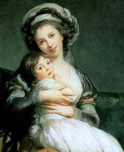 Elisabeth Vigée Lebrun, Autoportrait avec sa fille, 1786