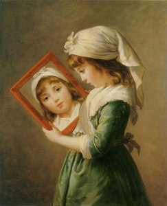Elisabeth Vigée Lebrun, Portrait de Jeanne Julie Louise Lebrun se regardant dans une miroir, 1786