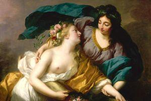 Elisabeth Vigée Lebrun, La Paix ramenant l'Abondance, 1780 (présentée au Salon de l'Académie de 1783)