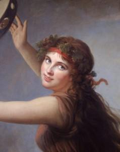 Elisabeth Vigée Lebrun, Portrait de Lady Hamilton en bacchante, vers 1790