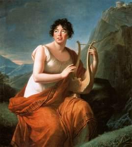 Elisabeth Vigée Lebrun, Portrait de Madame de Staël en Corinne, 1809