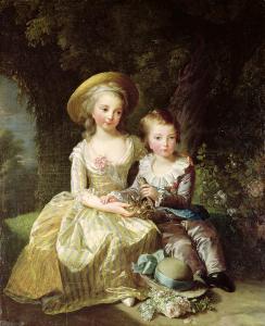 Elisabeth Vigée Lebrun, Portrait de Marie-Thérèse Charlotte de France et de son frère le dauphin Louis-Joseph-Xavier François de France, 1784