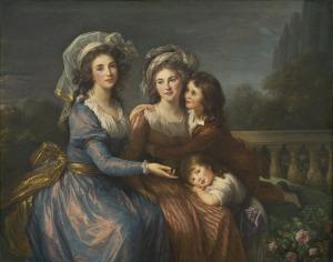 Elisabeth Vigée Lebrun, La Marquise de Pezay, la Marquise de Rougé et ses fils Alexis et Adrien, 1787