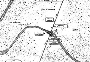 Carte du Paris Mérovingien