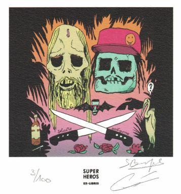 Grégoire Carlé et Bouquet Sylvestre pour trou Zombie à L'Association